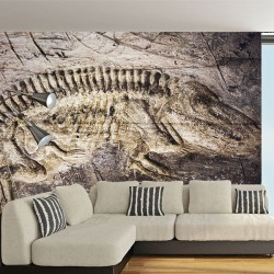 Mural fóssil de dinossauro
