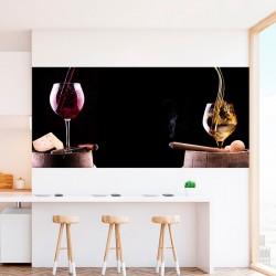 Foto mural copo de vinho e...