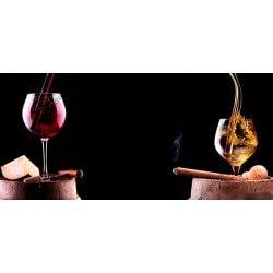 Foto mural copo de vinho e cigarro
