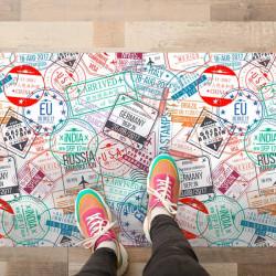 Tapetes vinílicos selos de cidades