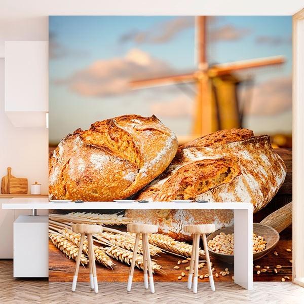 Mural de parede pão