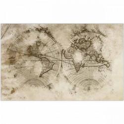 Tapete vinílico mapa mundo vintage