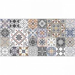 Tapete vinílico azulejos coloridos