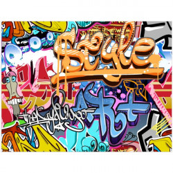 Tapete vinílico graffiti