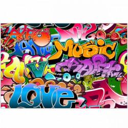 Tapete vinílico graffiti music