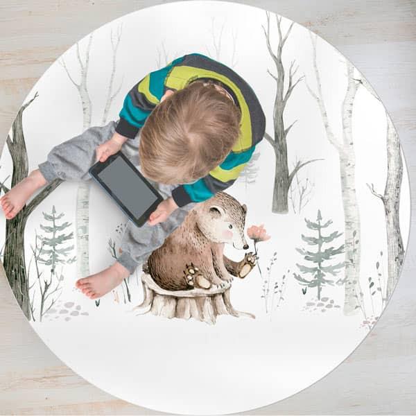 Tapete Vinílico infantil urso