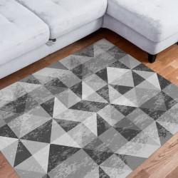 Tapete vinílico triângulos preto  e branco
