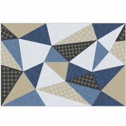 Tapete Vinílico triângulos preto e azul