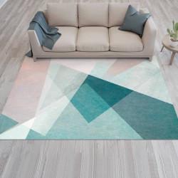 Tapete vinílico minimalista geométrico