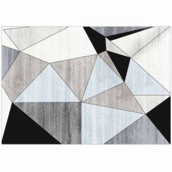 Tapete em vinil retangular geométrico moderno