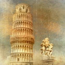 Mural de parede torre de Pisa