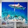 Mural de parede tubarão