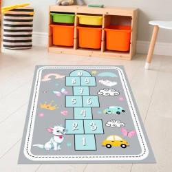 Tapete vinílico jogo da macaca com animais