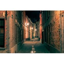 Mural ruas à noite