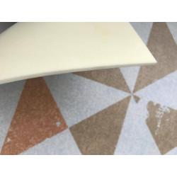 Tapete vinílico hexágono mármore