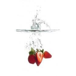 Autocolante morangos na água