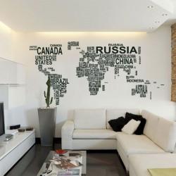 Mural Mapa do Mundo