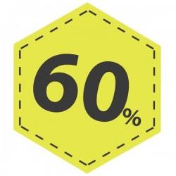 Vinil desconto 60 em amarelo
