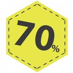 Adesivo desconto 70 em amarelo