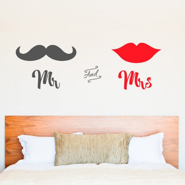 Vinil decorativo mr and mrs