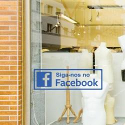 Adesivo siga-nos no facebook