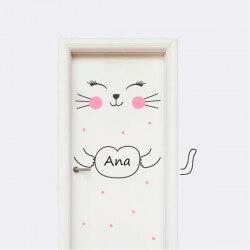 Vinil para portas gatinho