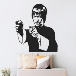 Adesivo de parede Bruce Lee