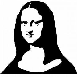 Vinil silhueta de Mona Lisa