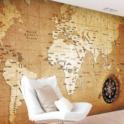 Vinil mapa mundo