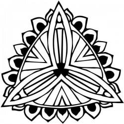 Vinil mandala flor
