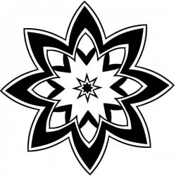 Mandala estrela de oito pontas
