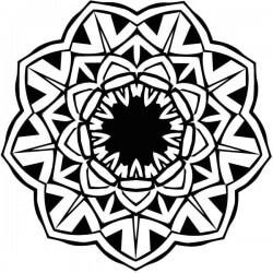Vinil mandala flor de lótus