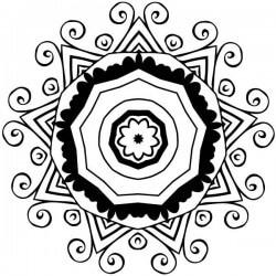Vinil mandala ornamental