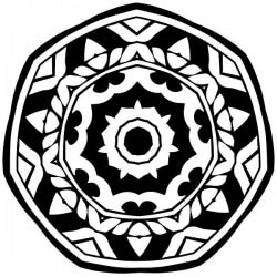 Autocolante mandala círculo