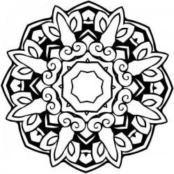 Vinil mandala octogonal