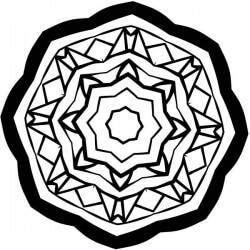 Adesivo estrela octogonal