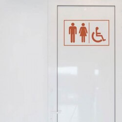 Vinil para porta de WC