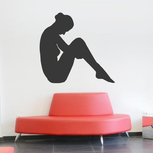 Vinil mulher sentada
