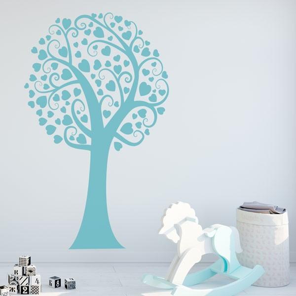 Adesivo árvore coração
