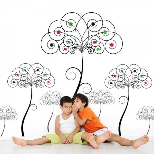 Vinil decorativo árvore colorida