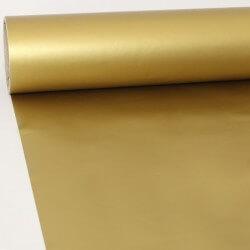 Vinil a metro mate dourado
