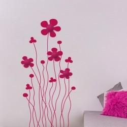 Vinil cabide de parede floral