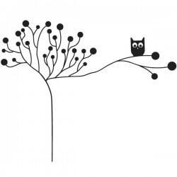 Cabide em vinil de árvore
