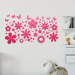 Cabide de parede com flores