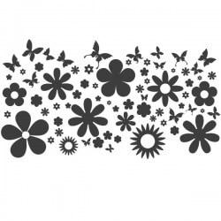 Adesivo cabide de parede com flores