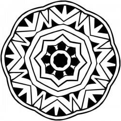 Adesivo mandala estrela floral