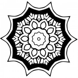 Adesivo Mandala padrão floral