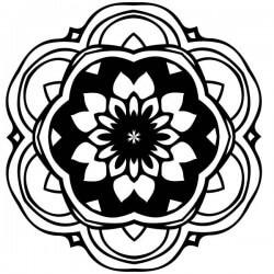 Adesivo mandala flor dália