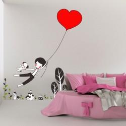 Decorativo infantil balão com coração
