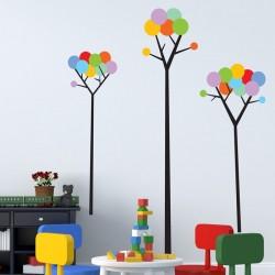 Vinil decorativo de árvores infantis